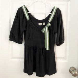 Anthropologie blouse with bow detail